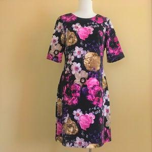 NEW Vince Camuto Floral Shift Scuba Stretch Dress